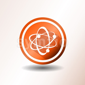 Atom Icons In Flat Design Stock Vector