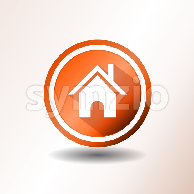 Home Icon In Flat Design Stock Vector