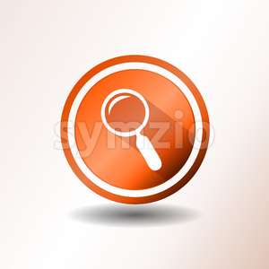 Search Engine Button In Flat Design Stock Vector