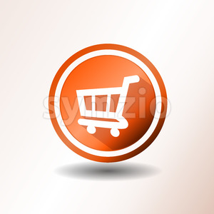 Shopping Cart Flat Icon Stock Vector