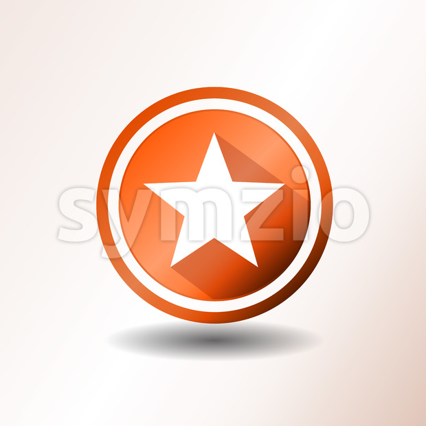 Star Icon In Flat Design Stock Vector