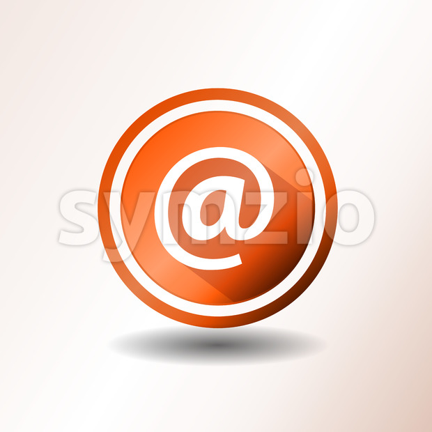 Contact Icon In Flat Design Stock Vector