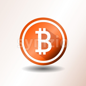 Bitcoin Icon Stock Vector