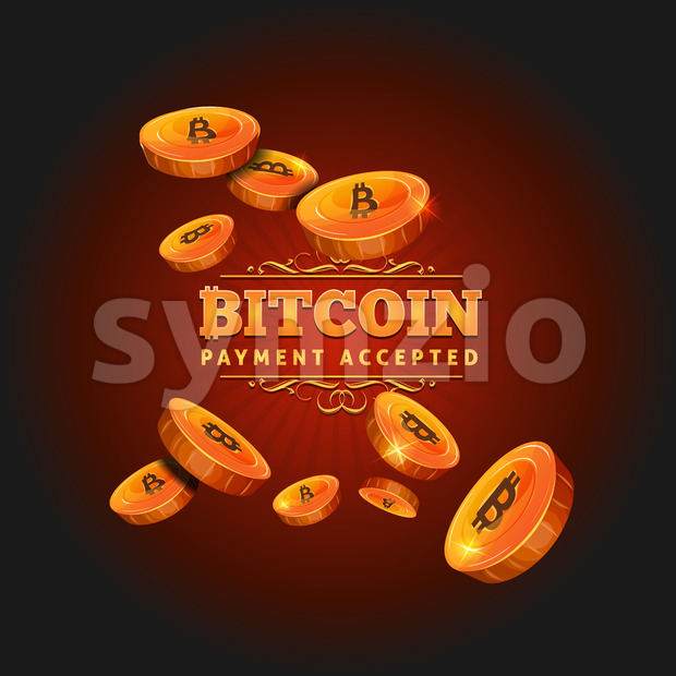 Bitcoin Payment Background Stock Vector