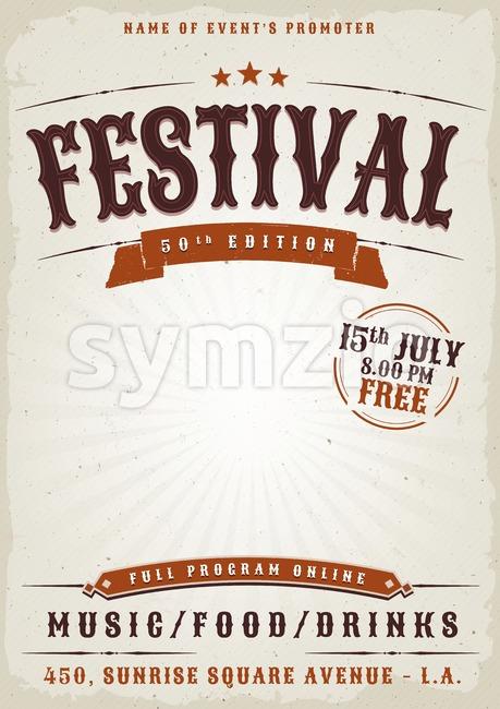 Music Festival Grunge Poster Stock Vector