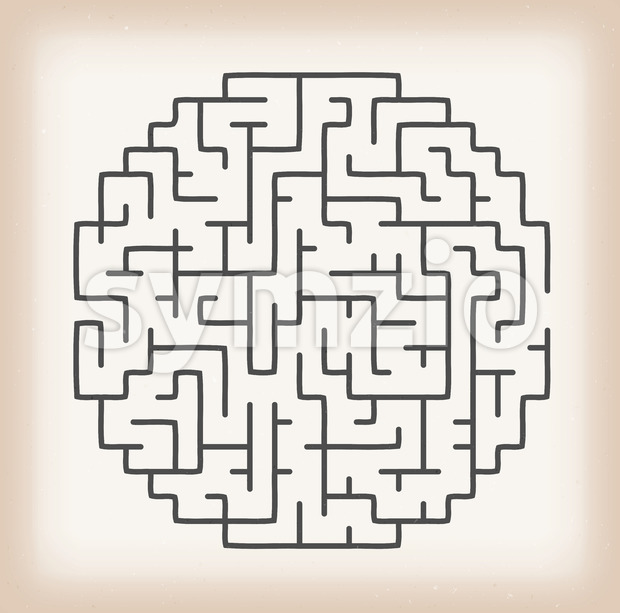 Maze Game On Vintage Background Stock Vector