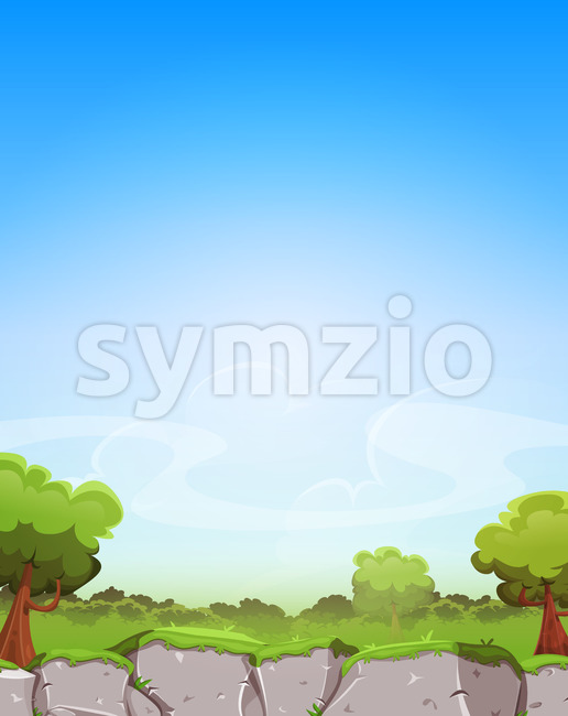Spring Landscape Background Stock Vector