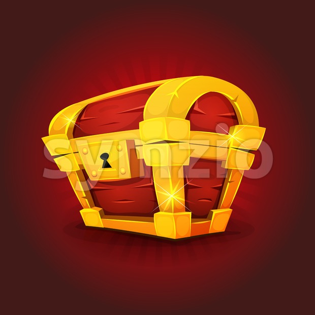 Treasure Chest Icon For Game Ui Stock Vector