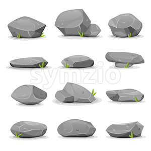 Rocks And Boulders Set Stock Vector