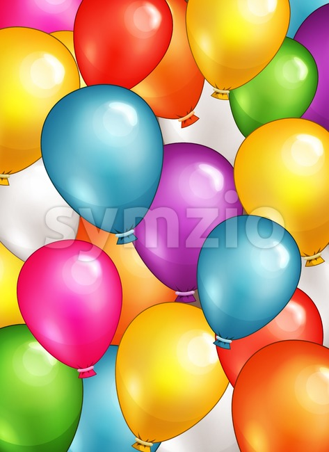 Party Balloons Background Stock Vector
