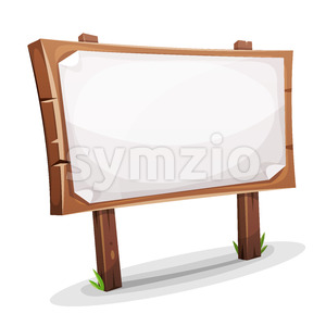 Rural Wood Sign Stock Vector