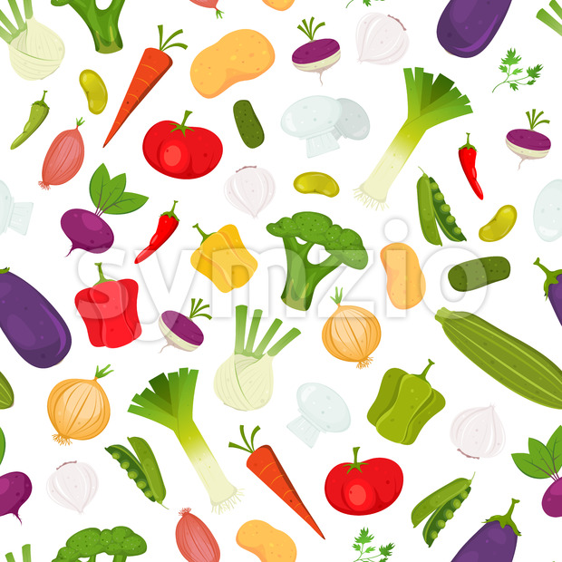 Seamless Vegetables Background Stock Vector