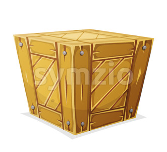 Wood Box Stock Vector