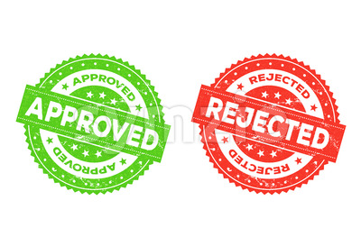 Approved And Rejected Stamp Stock Vector
