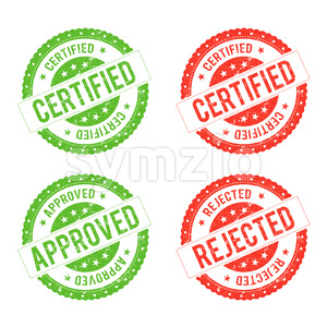 Seal Certificate Stock Vector
