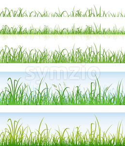 Seamless Green Grass Layers Stock Vector