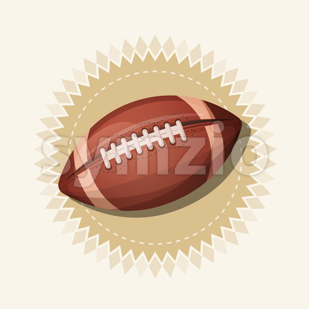 American Football Retro Banner Stock Vector