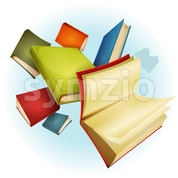 Books Collection Background Stock Vector