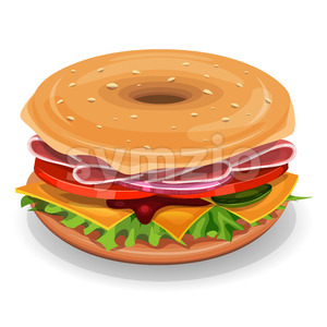 American Bagel Stock Vector