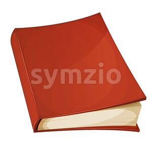 Red Book Isolated Stock Vector