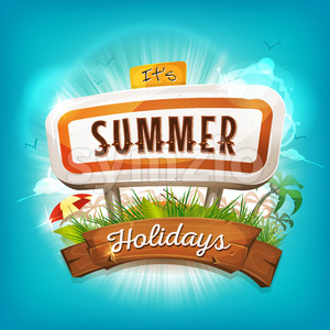 Summer Holidays Background Stock Vector