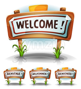 Welcome Farm Or Country Sign Stock Vector