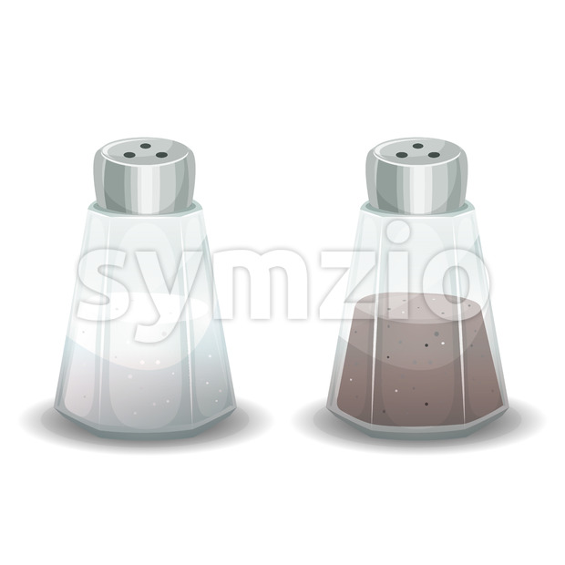 Salt And Pepper Spices Shaker Stock Vector