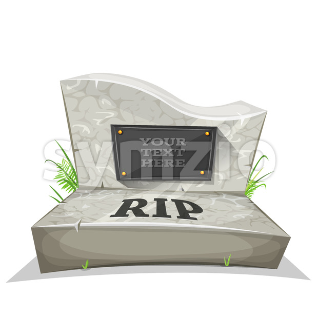 Tombstone With RIP Inscription Stock Vector