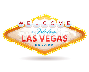 Welcome To Fabulous Las Vegas Sign Stock Vector
