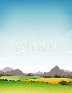 Spring And Summer Nature Landscape Stock Vector