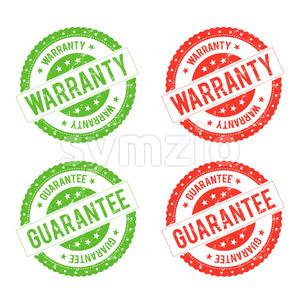 Grunge Warranty Seal Stamp Stock Vector