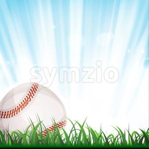 Baseball Background Stock Vector