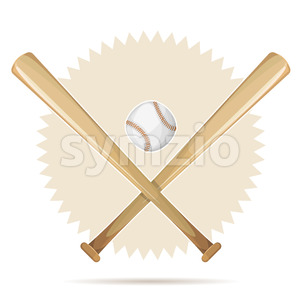 Baseball Retro Banner With Bats And Ball Stock Vector