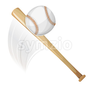 Baseball Bat Hitting Ball Stock Vector