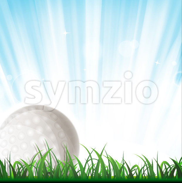 Golf Ball Background Stock Vector