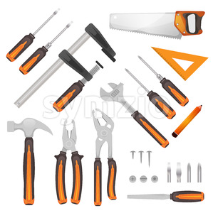 DIY Tools Set Stock Photo