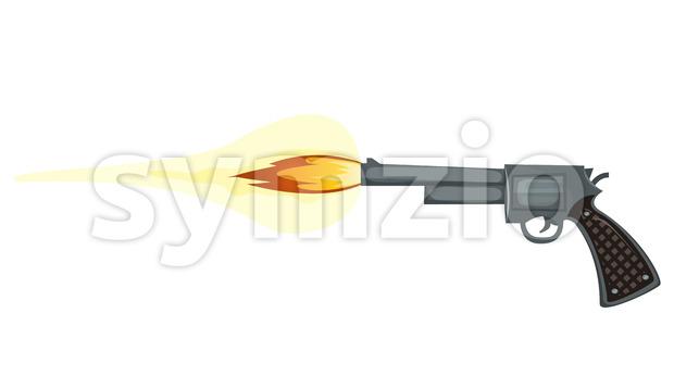 Firing Gun Stock Vector