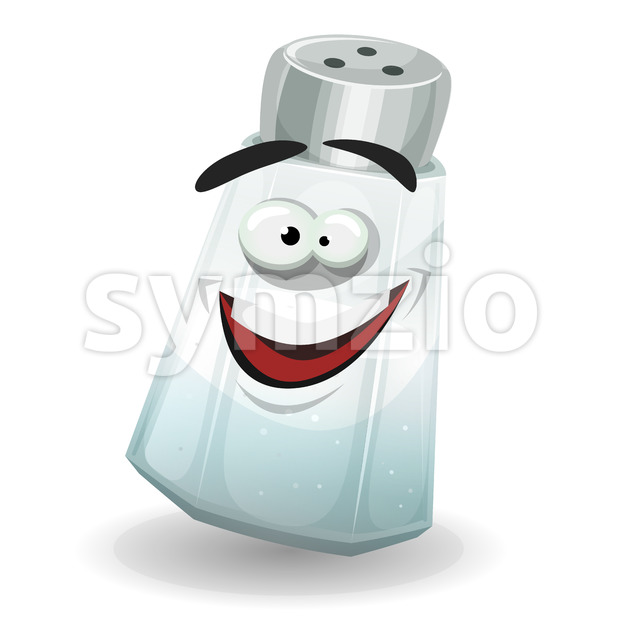 Happy Salt Shaker Character Stock Vector