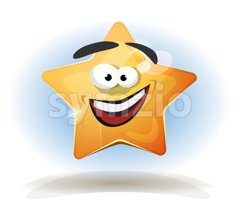 Funny Star Character Icon Stock Vector