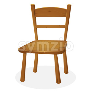 Wood Kitchen Seat Stock Vector