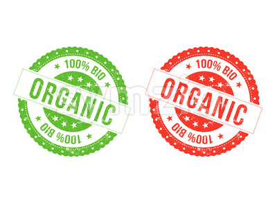 Organic Bio Seals Stock Vector