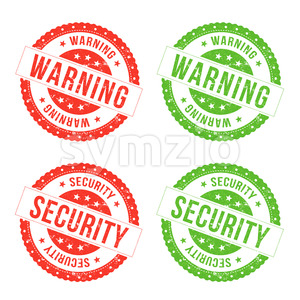 Warning And Security Seals Stock Vector