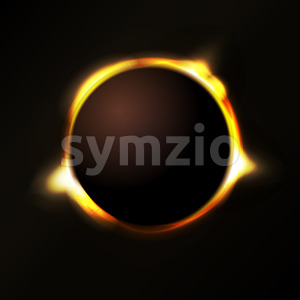 Solar Eclipse Background Stock Vector