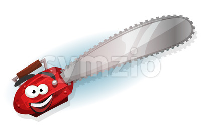 Cartoon Chainsaw Character Stock Vector