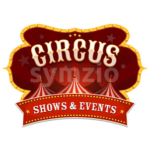 Circus Banner With Big Top Stock Vector