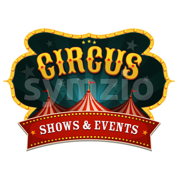 Retro Circus Banner Stock Vector