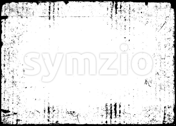 Black And White Grunge Background Stock Vector