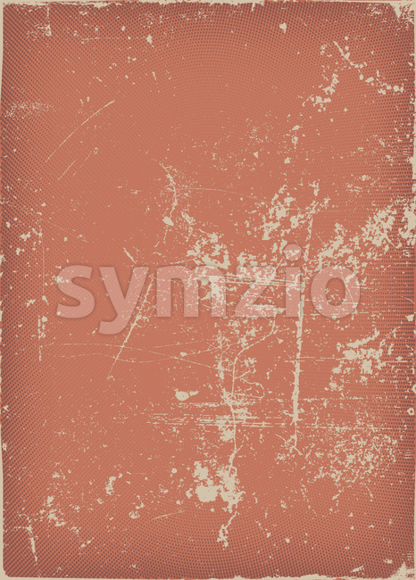 Vintage And Grunge Red Scratched Background Stock Vector