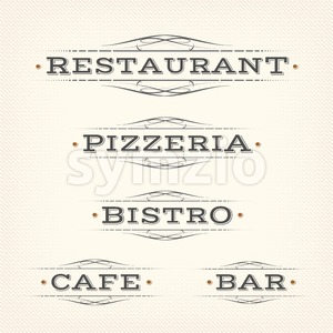 Retro Restaurant, Pizzeria And Bar Banners Stock Vector