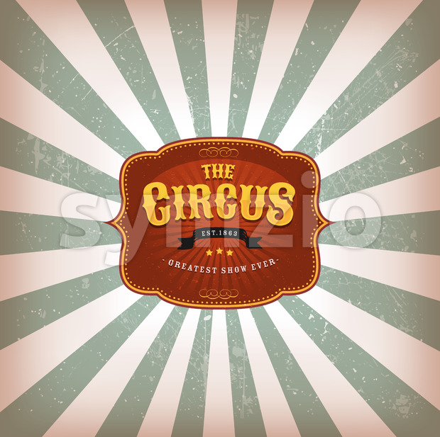 Retro Circus Background With Texture Stock Vector
